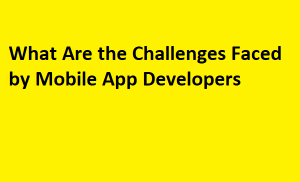 What Are the Challenges Faced via way of means of Mobile App Developers